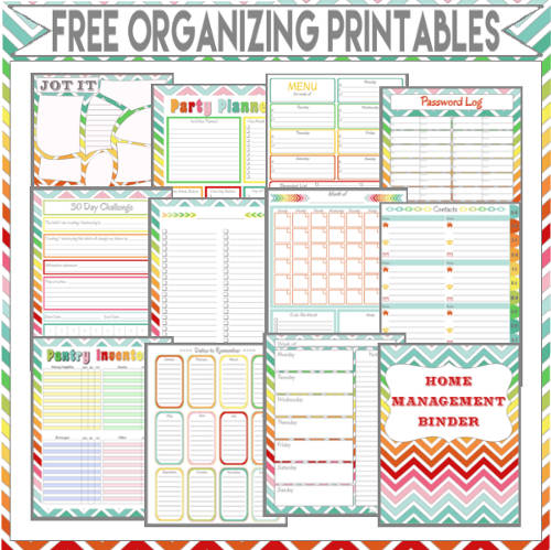 Home Management Binder - Free Organizing Printables