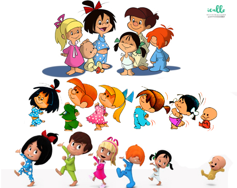 La Familia Telerin Vuelve Familiatelerin Icalle Ilustración