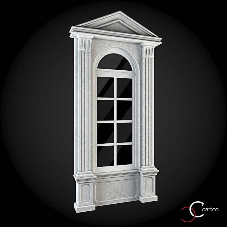 Ornamente Geamuri Exterior, fatade case cu profile decorative polistiren, profile fatada,  Model Cod: WIN-031
