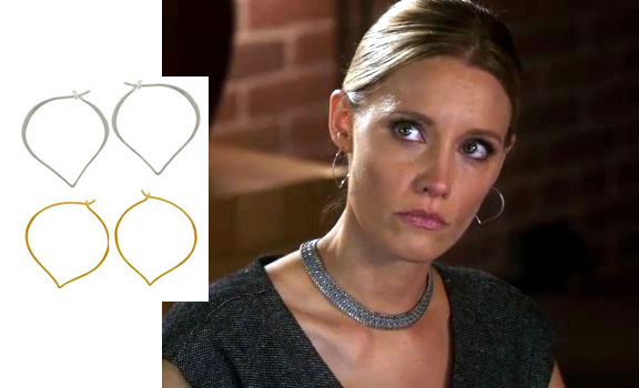 KaDee Strickland as Charlotte King wears Peggy Li Creations earrings