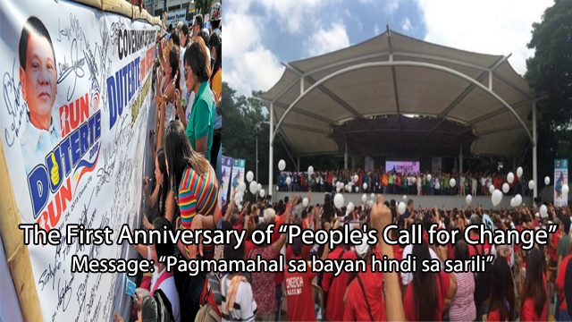 "Image result for DUTERTE SUPPORTERS CELEBRATE ""PEOPLE'S CALL FOR CHANGE"""