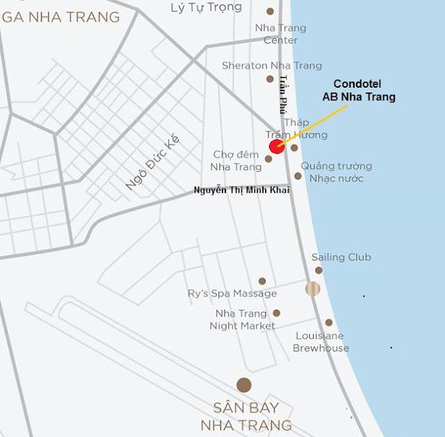 Vị trí Condotel 44 Trần Phú Nha Trang