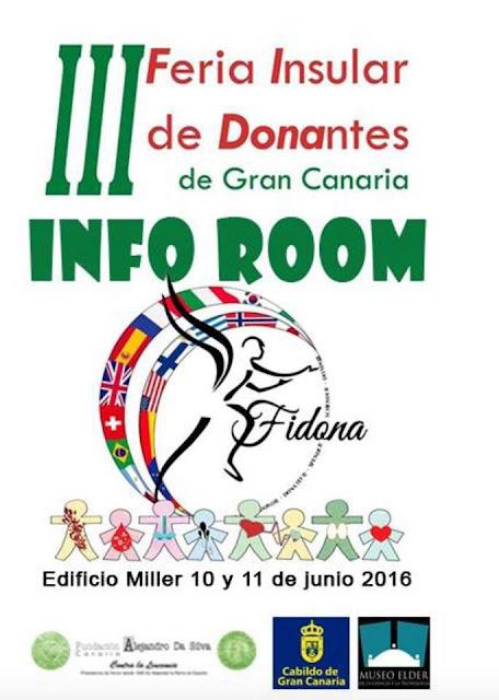 Feria Insular del Donante 2016 a celebrar en el Museo Elder, Las Palmas de Gran Canaria