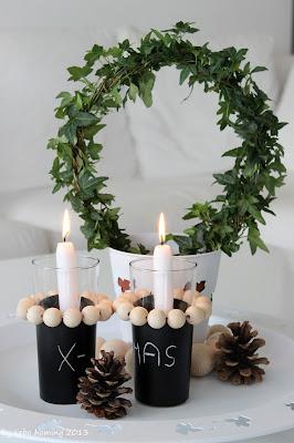 DIY Tutorial  Weihnachtsdekoration aus Holzkugeln und Tafelfolie auf dem Südtiroler Food- und Lifestyleblog kebo homing
