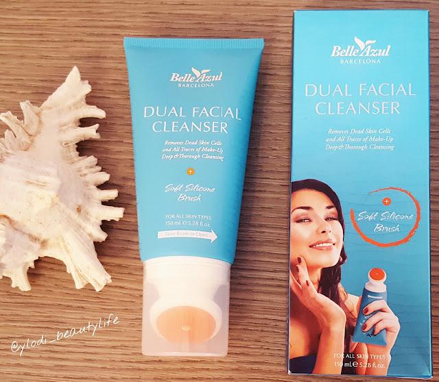 dual facial cleanser belle azul barcelona