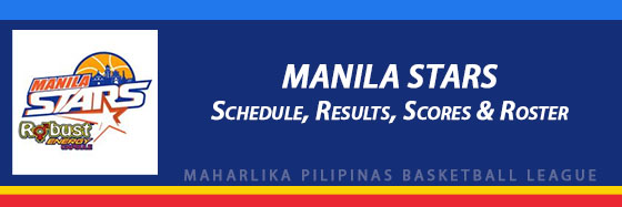 MPBL: Manila Stars Schedule, Results, Scores, Roster