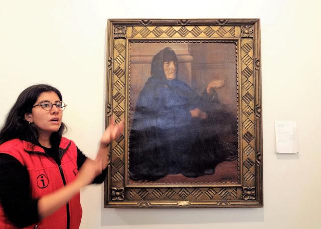 昔のコロンビアにいた物乞い(乞食)の老婆の絵画