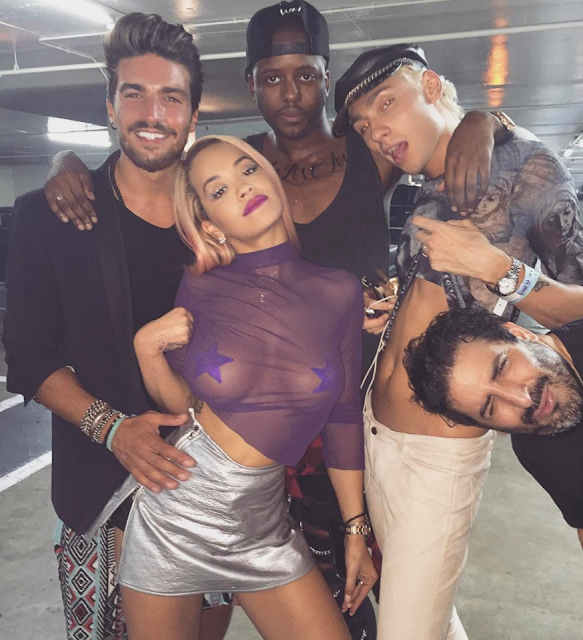 Rita Ora nipple pasties and nipslip