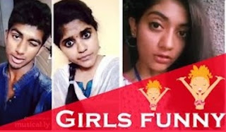 Girls are funny Tamil Dubsmash Girls Collection