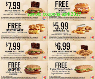 free Burger King coupons for april 2017