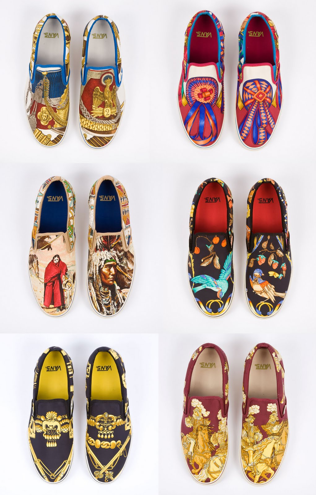 Got My Own Style Custom VANS made with Vintage Herms Scarves Yum Vintage Hermes Scarves Vans