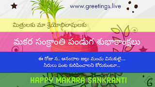 New Style Makara Sankranti Festival 2018 Wishes in Telugu Language