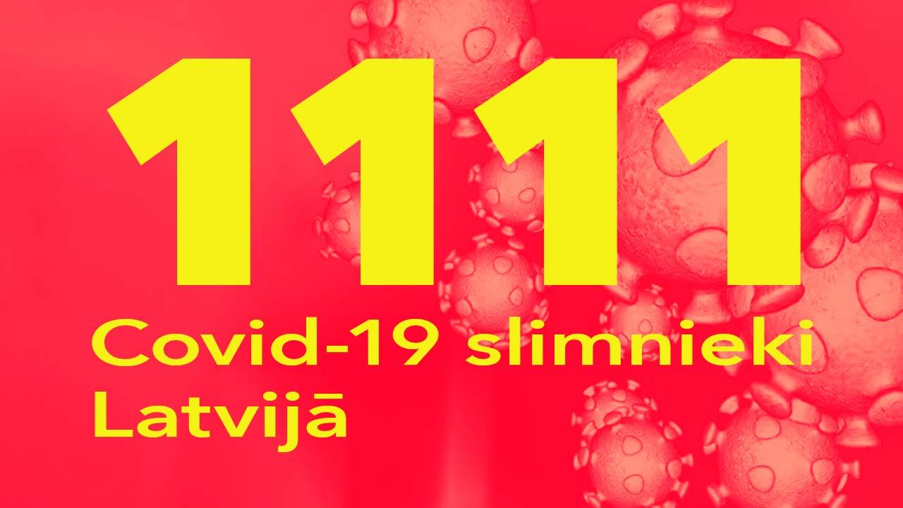 Koronavīrusa saslimušo skaits Latvijā 25.06.2020.
