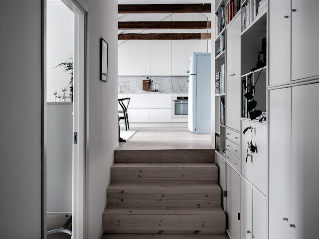 Cute scandinavian beauty in attic apartment