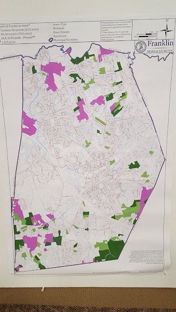 Franklin map  where the area is 5 acres or more (parcels in purple)