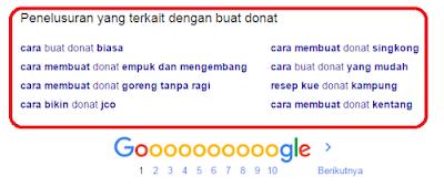 melakukan riset kata kunci menggunakan google search