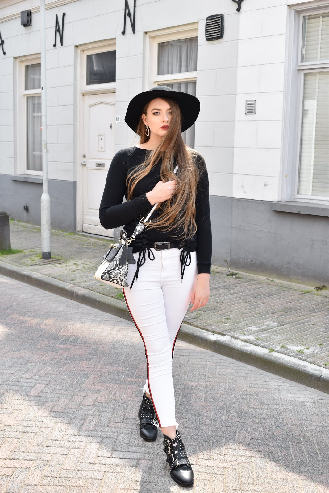 białe spodnie stylizacje