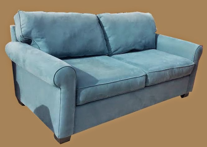 Superb Uhuru Furniture Collectibles Slate Blue Microfiber Sofa Onthecornerstone Fun Painted Chair Ideas Images Onthecornerstoneorg