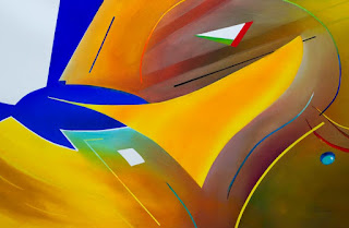 abstract aviation art