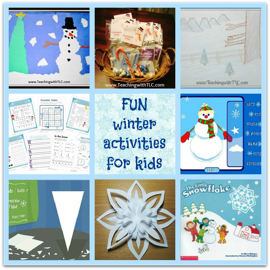 Teaching With Tlc Fun Winter Activities For Kids