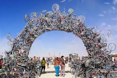 Arte reciclado con bicicletas
