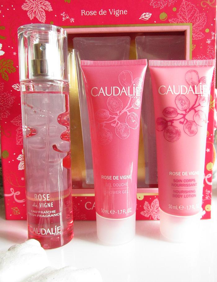 Geschenkidee Weihnachten: CAUDALIE Rose de Vigne Geschenkset - Eau Fraiche, Duschgel und Bodylotion