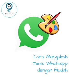 Cara mudah ubah tema Whatsapp thumbnail