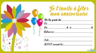 Jolie carte anniversaire gratuite à imprimer