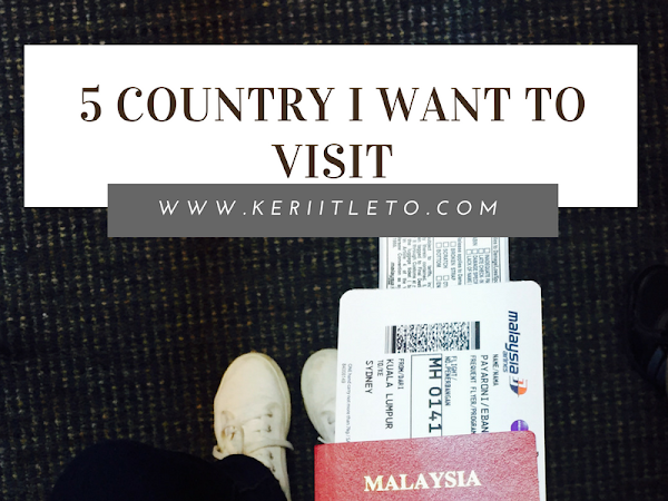 [November special] 5 country I want to visit