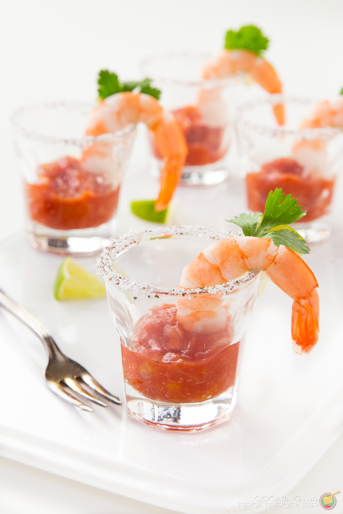 Shrimp Cocktail Shooters | Cookiing on the Front Burner