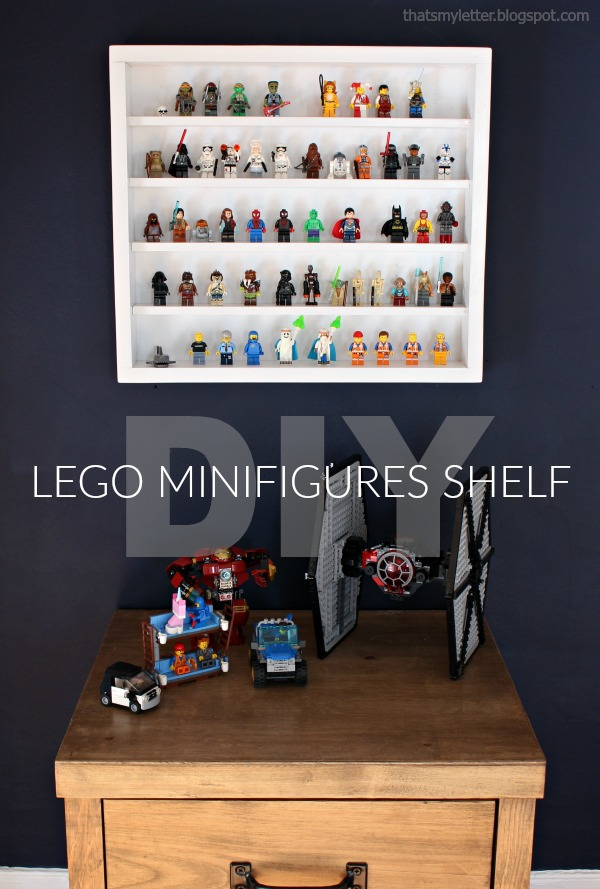 diy lego minifig shelf