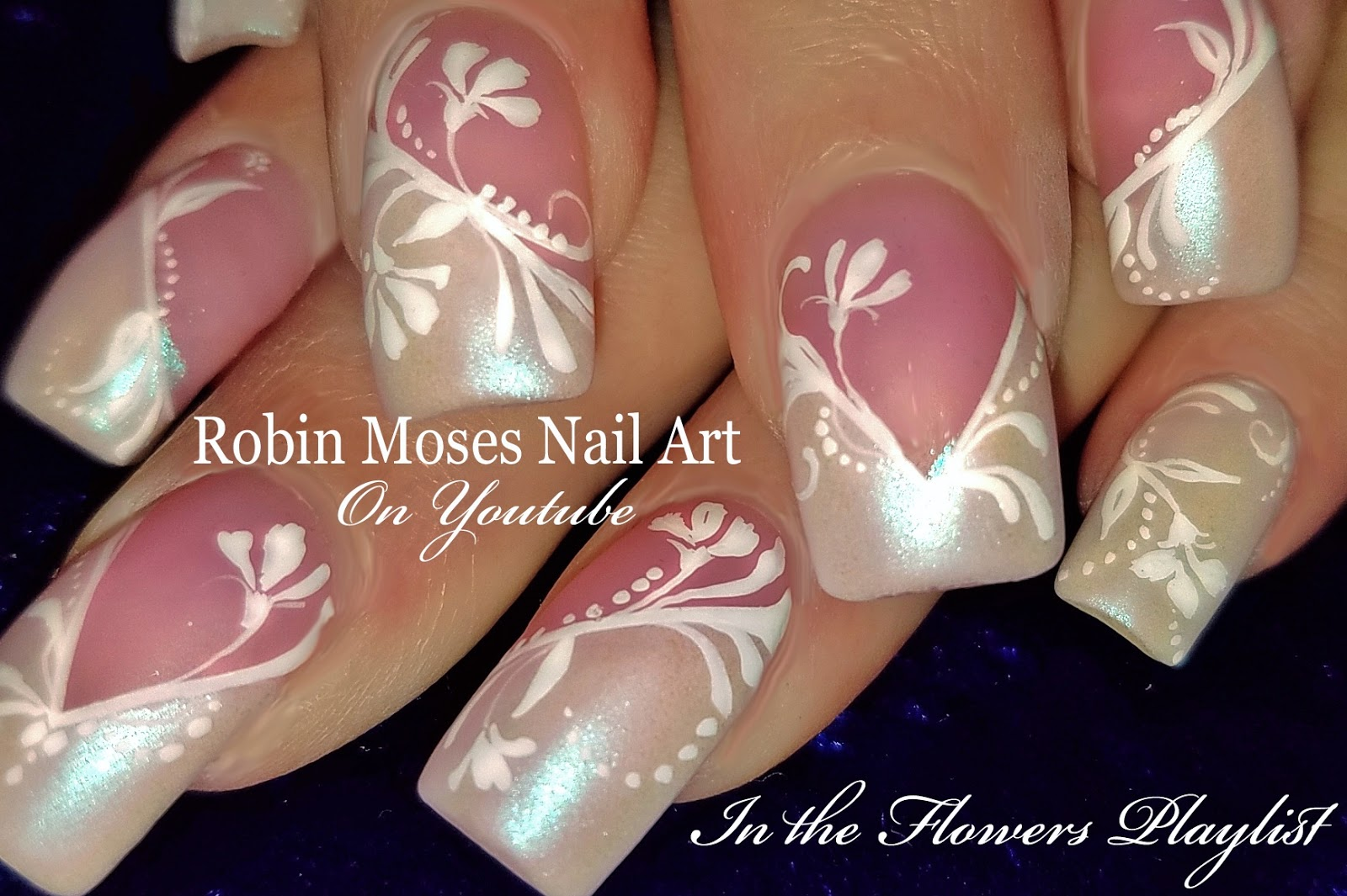 Nail Art By Robin Moses Elegant Diy White Wedding Nails Hand