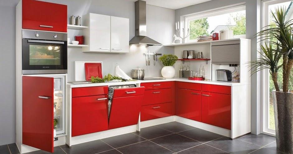 Cocinas en color rojo gris y blanco colores en casa for Muestrario cocinas