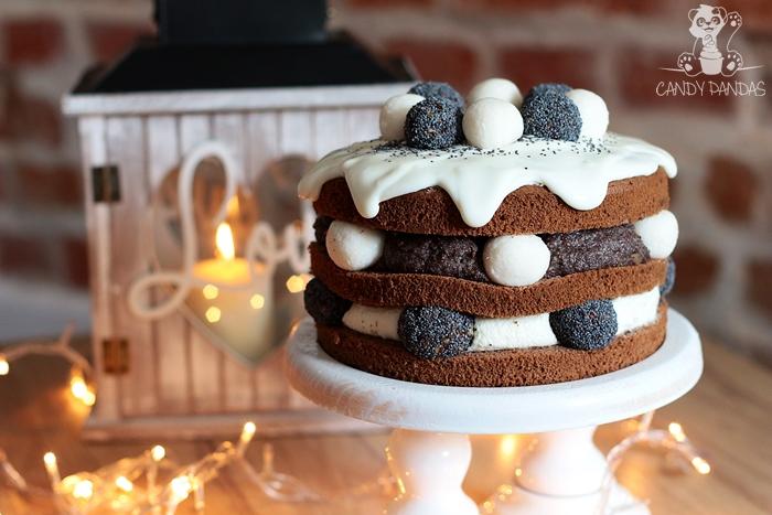 Tort korzenny, kokosowo-makowy (bez glutenu, cukru)