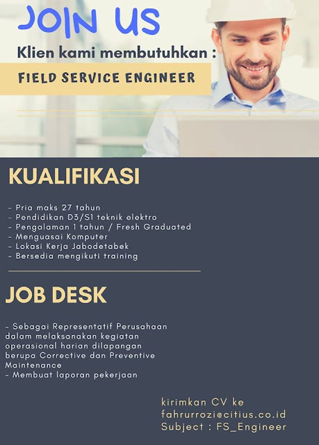lowongan kerja field service engineer jakarta