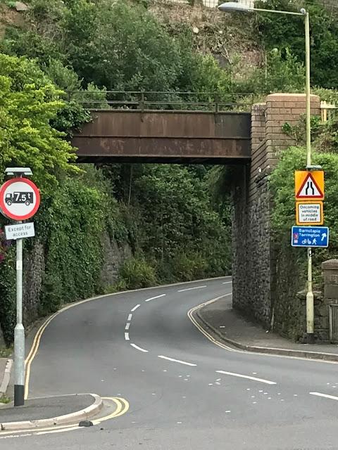 Former railway bridge, now home to the Tarka Trail cycle path, Bideford, Devon