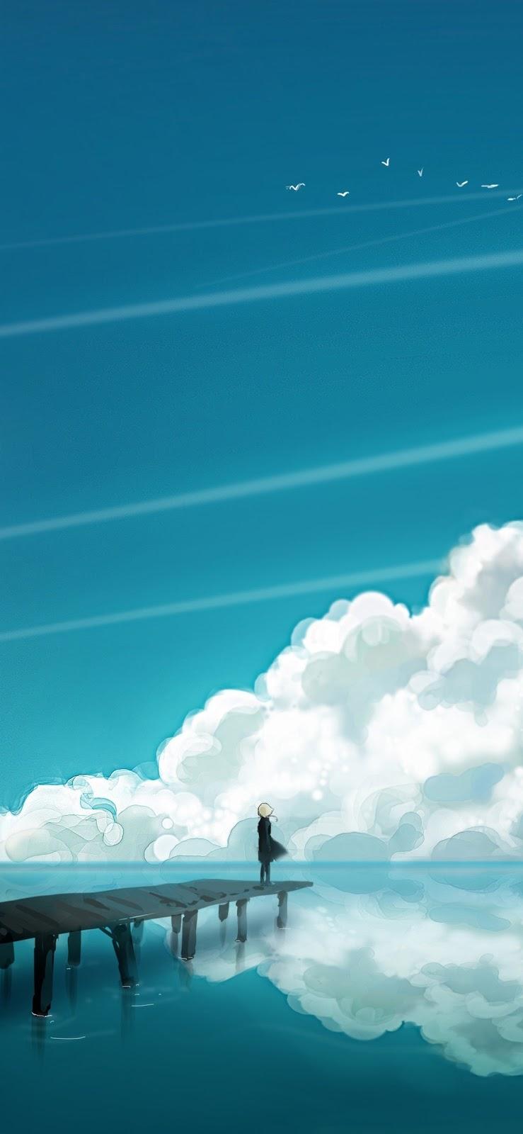 Cloudy Sky (iPhone X)