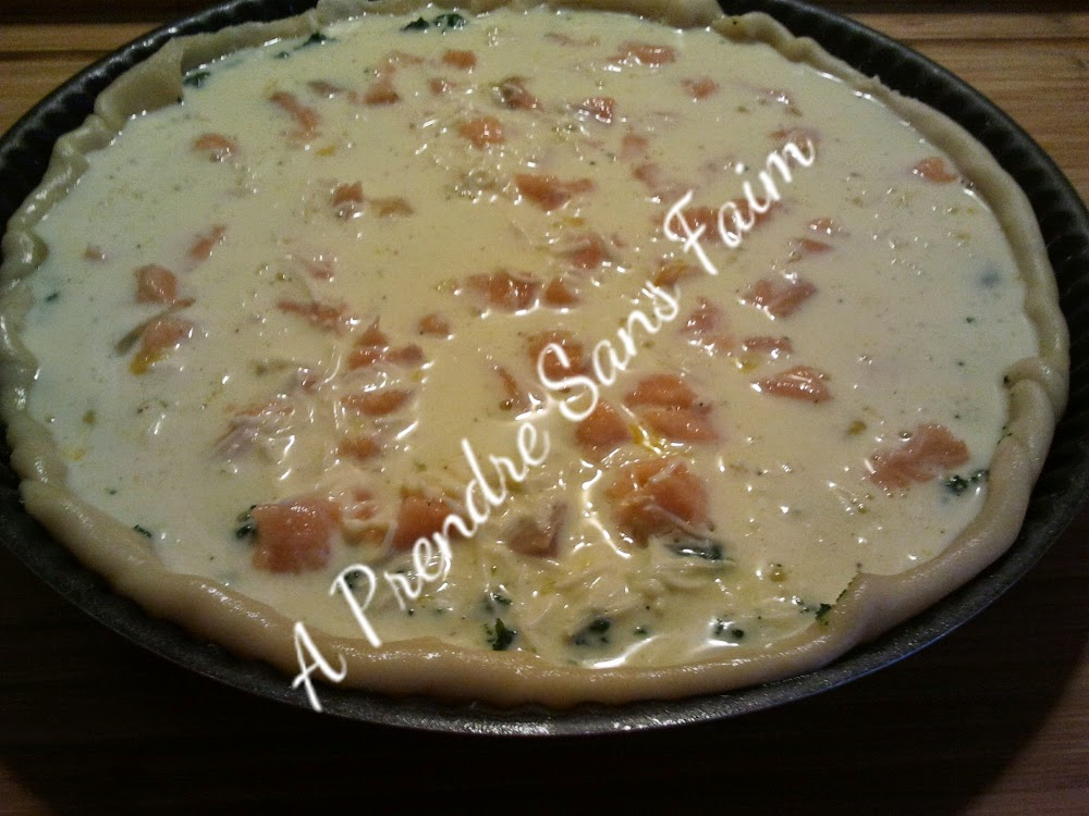 Quiche saumon épinards (pas à pas en photos)