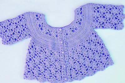 5 - IMAGEN Chaqueta a crochet a juego con vestido rosa para niña muy fácil y rápida Majovel Crochet