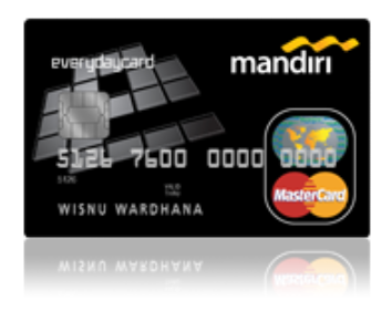 Kartu kredit mandiri master card everiday