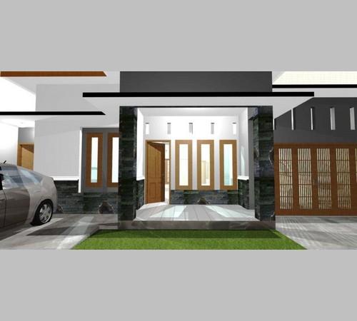 Model Tiang Teras Rumah Batu Alam