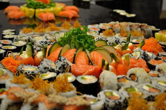 tendencias gastronómicas para bodas: sushi