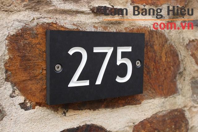 Mẫu bảng số nhà bằng Gỗ