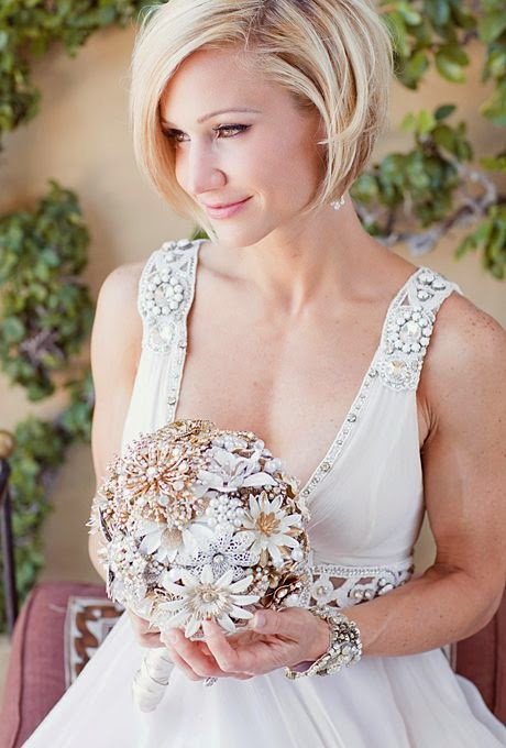 See more Wedding Hairstyles for Brides with Short Hair | A Sleek Bobbed Hairstyle | Photo credit: Half Orange Photography
