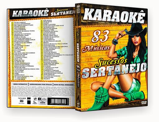 CAPA DVD – Karaoke 83 Sucessos Sertanejos – ISO
