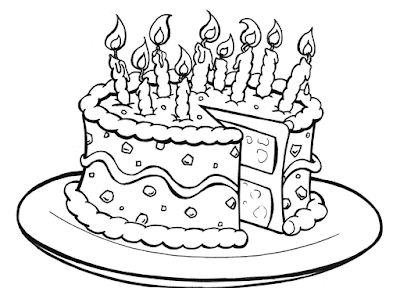 Gambar Mewarnai Kue Ulang Tahun - 1