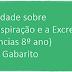 Atividade sobre A Respiração e a Excreção (Ciências 8º ano) com Gabarito