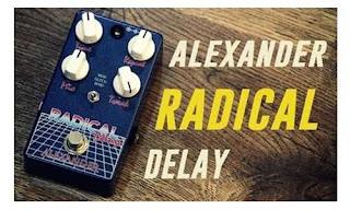 Alexander Pedal Radical Delay (Pedal Efek Gitar)