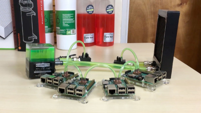 raspberry pi 3 cluster water cooler