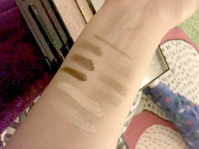 Makeup Revolution Ultra Brow Swatches